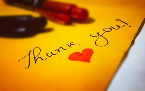 Canva - Thank You! Heart Text